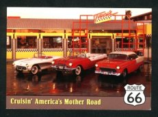 Route 66 1950s Corvette Pontiac Chevy